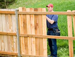 diy wood fence
